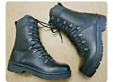 More details for new genuine german army issue black leather para paratrooper combat boots