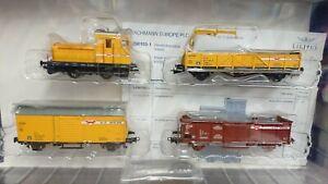 Bachmann Liliput L230103 Loco & 3 WIEBE Wagons Set HO 1/87 Period IV/V NEW