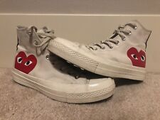 Chuck Taylor Converse 70 x Comme Des Garcons PLAY Size 7 White