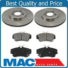 100% New Front Disc Brake Rotor Ceramic Pads for 01-10 PT Cruiser Non Turbo