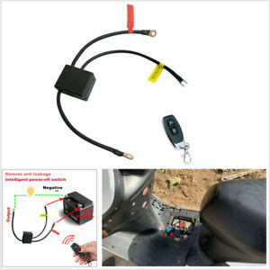 Wireless Remote Control Motorcycle Battery Disconnect Cut Off Master Switch 12V