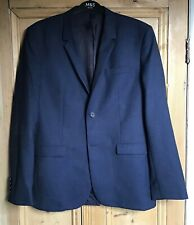 Brand New Men's Cos Blue Mix Wool Fully Lined Blazer Jacket Size 40R