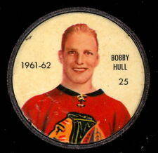 1961 62 SALADA SHIRRIFF FOODS 25 BOBBY HULL COIN EX+ CHICAGO BLACK HAWKS HOCKEY