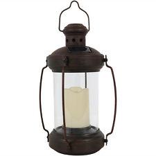 12-Inch Illuminated Antique Outdoor Hanging Solar Powered Lantern w/ LED Light