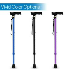 RMS Adjustable Walking Lightweight Aluminum Cane with Ergonomic Handle -3 colors