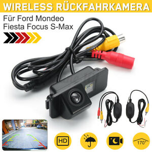 Wireless Rückfahrkamera Einparkkamera Für Ford Mondeo Fiesta Focus S-Max Kuga DE
