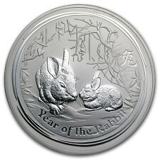 2011 Australia 1 oz Perth .999 Silver Lunar Rabbit (from mint roll)