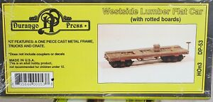 HOn3 Durango Press Westside Flat Car Rotten Boards Unasmbld Kit DP-53 NIB Sealed