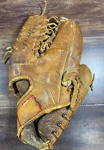 Vintage Hank Bauer Rawlings trapeze Baseball Glove TG 36 Right Hand thrower