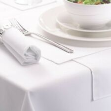 Luxury White 100% Cotton Table Cloth Hotel Quality Linen 100% Cotton Napkins