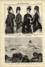 1876 DISTRUZIONE Hell Gate NEW YORK DONNA AUTUNNO Mantelli