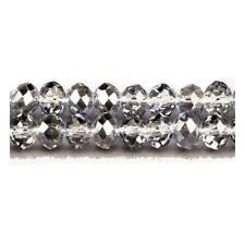 PIEZAS HAZLO TÚ MISMO Joyería Negro Vidrio Cristal Checo Facetado Rondelle Perlas 9 X 12mm 70