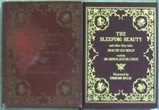 2x SLEEPING BEAUTY & OTHER FAIRY TALES Dulac VINTAGE ~ 1910 + 1 LEATHER GIFT REP