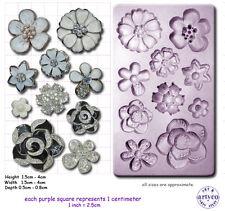 Spilla Gioiello Fiore Craft Sugarcraft fimo resina SCULPEY Stampo in silicone