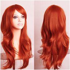 Ombre Pastel Hair Wigs Long Curly Wavy Women Girl Cosplay Fancy Costume Full Wig