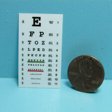 Dollhouse Miniature Replica Science Medical Eye Exam Chart L4180
