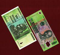 100,000 Vietnam Dong VND Note +10 Trillion Zimbabwe Dollars Banknote AA 2008 UNC