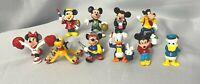 Vintage Disney Mickey Mouse Minnie Mouse Pluto Goofy Donald PVC Figurines
