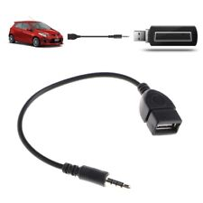 3.5mm Male Plug Jack To USB 2.0 Female Car Stereo Audio Adapter Converter Cable
