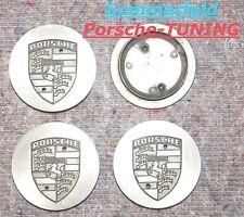 orig. Porsche Carrera 964 Metall Felgendeckel Silber Eloxiert  Wheel centre Caps