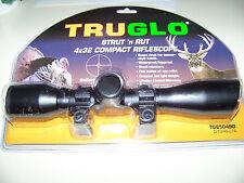 TRUGLO 4X32 STRUT N RUT COMPACT SHOTGUN  SCOPE  DIAMOND RETICLE Fits Weaver Rail