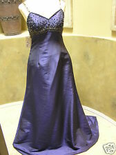 NWT AMAC Aviena evening formal prom occasion social dress straps gown Blue 6