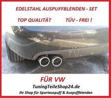 Endrohr Doppelrohr Auspuffblende Auspuffblenden Chrom-Look f. VW TIGUAN TSI TDI