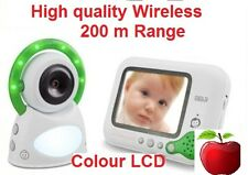"""New wireless 2.4G 3.5"""" LCD colour display Baby monitor 200m High Quality"""