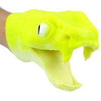 1PC Soft vinyl TPR PVC fluorescent green snake hand puppet kids Toys gift  I fr