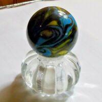 "1 1/2"" HANDMADE Marble Gold Stone (AMAZING WILD FLAME)"