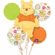 WELCOME LITTLE ONE BALLOON BOUQUET POOH & FRIENDS FOIL BALLOONS