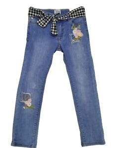 Mayoral Girls Jeans with Checked belt (3531) Clearance Price