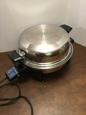 Liquid Core Stainless Steel Electric Skillet 17884 High Dome Lid & Power Cord