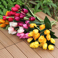 EE_ 1 Bouquet 9 Heads Fake Tulip Artificial Silk Flower Office Wedding Decor Eag