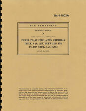 TM9 1802A ~ 1943 ~ Engine Manual ~ GMC DUKW-353 & CCKW ~ GMC ~ Reprnt