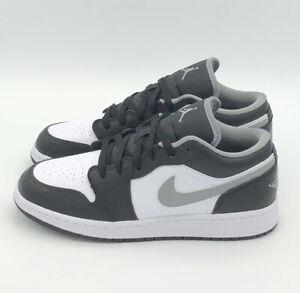 Nike Air Jordan 1 Low GS Black White Grey Shadow Schwarz Grau neu & ungetragen