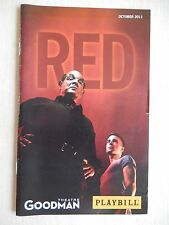 October 2011 - Goodman Theatre Playbill - Red -
