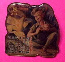 Peter Pan, August 2003 Japan Jds Calendar Disney Pin Le2000