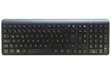 New HP German Windows Linux PC Black Wireless Keyboard 697351-041
