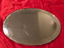 The National Brass Mfg Co Warranted Gold Plate Vanity Mirror- Vintage