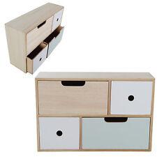 Mini Kommode Kommode Schränkchen Holz Shabby Chic 4 Schubladen Schrank Bunt