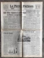 N34 La Une Du Journal Le Petit Parisien 22 Et 23 Juillet 1944