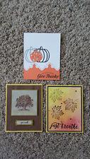 New listing 3 Handmade Stampin' Up Fall Cards, Colorful Season, Pick a Pumpkin