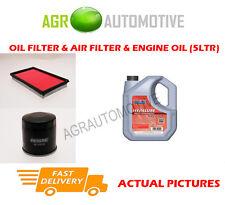 PETROL OIL AIR FILTER KIT + FS 5W40 OIL FOR NISSAN X-TRAIL 2.0 140 BHP 2001-08