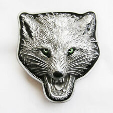 Belt Buckle Wolf Western Metal