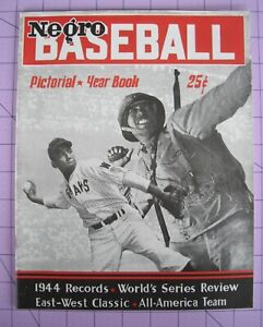 Negro League Baseball Yearbook Magazine Publication 1944-45 MLB Black Americana