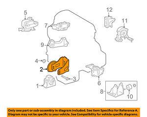 Scion TOYOTA OEM 08-15 xB Engine-Front mount bracket 1231128291