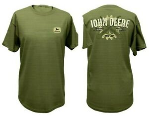 NEW John Deere Men's Green Tool & Gear Graphic T-Shirt , Sizes  M L XL