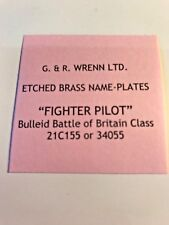 WRENN Etched model railway Name Plates FIGHTER PILOT - REDUCED