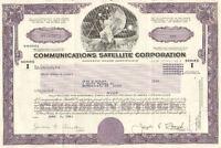 Communicatioins Satellite > 1983 Chicago Illinois old stock certificate share